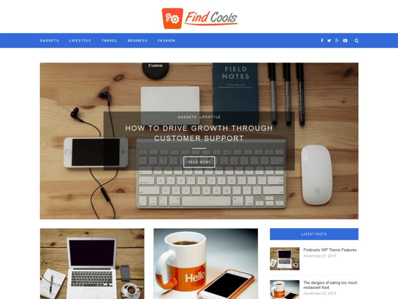 Findcools Free Portfolio Wordpress Theme Freebie Supply