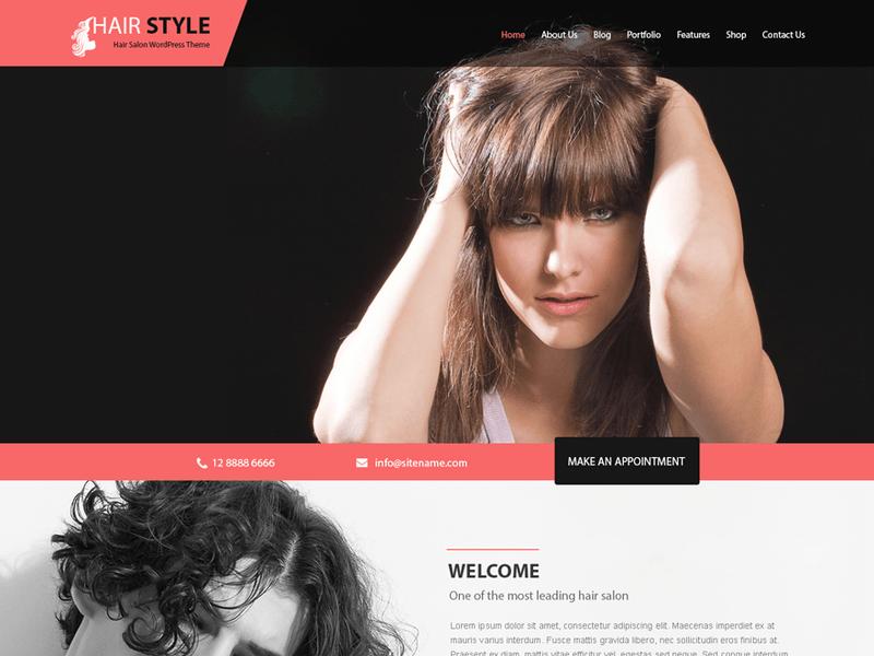 Hairstyle Free Ecommerce Wordpress Theme Freebie Supply