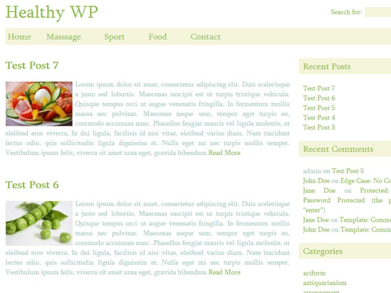 health blog theme wordpress free  Healthy WP - Free Blog WordPress Theme - Freebie Supply