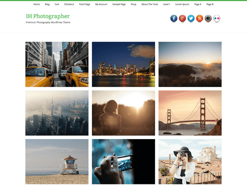 IH Photographer - Free Ecommerce WordPress Theme - Freebie Supply