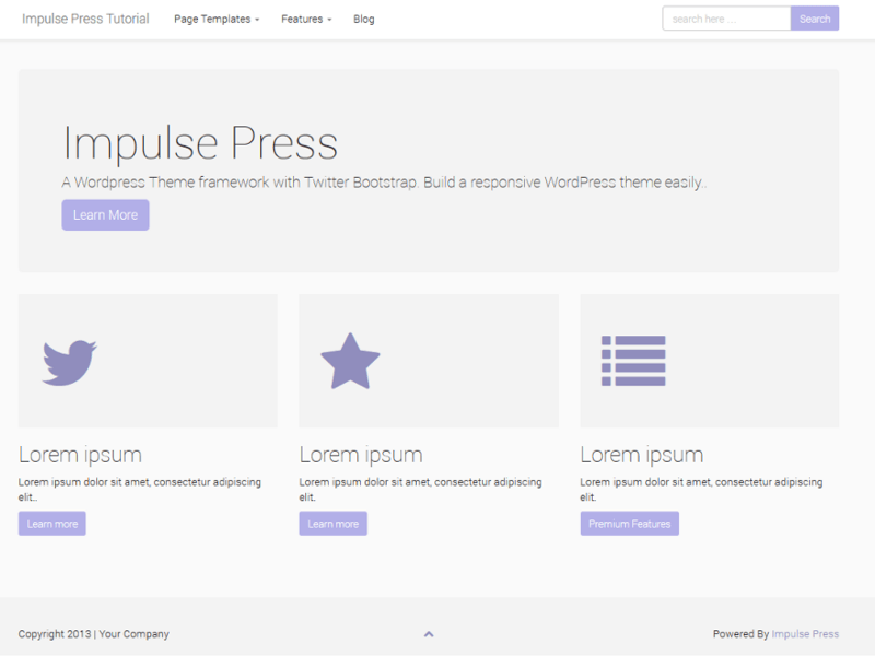 Impulse Press - Free Bootstrap WordPress Theme - Freebie Supply