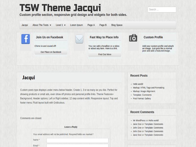 Jacqui - Free Portfolio WordPress Theme - Freebie Supply