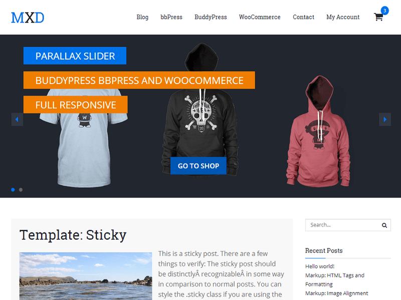 Mixed - Free Ecommerce WordPress Theme - Freebie Supply