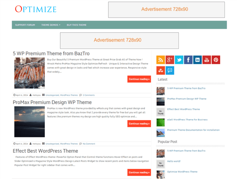 Optimize - Free Ecommerce WordPress Theme - Freebie Supply