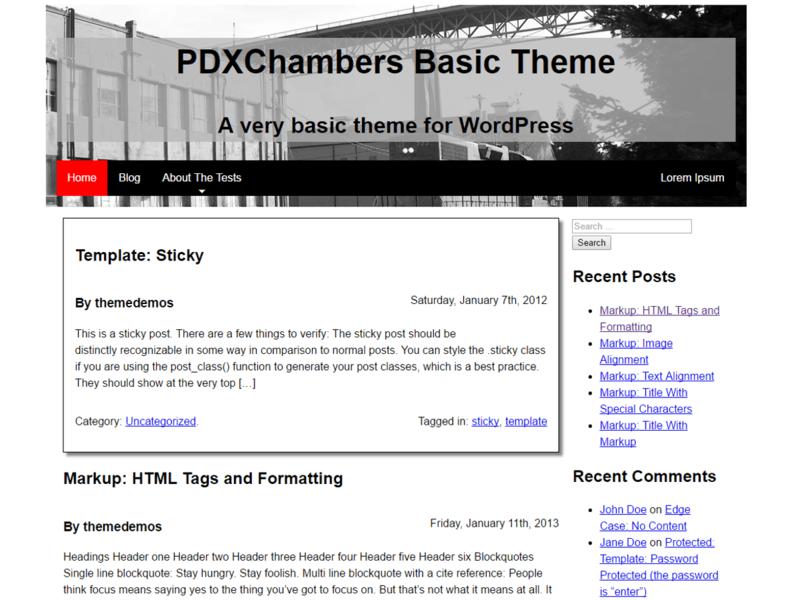 PDXChambers Basic - Free Blog WordPress Theme - Freebie Supply