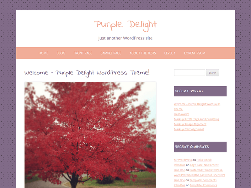 Purple Delight Free Portfolio Wordpress Theme Freebie Supply
