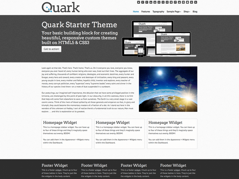 Quark - Free Ecommerce WordPress Theme - Freebie Supply