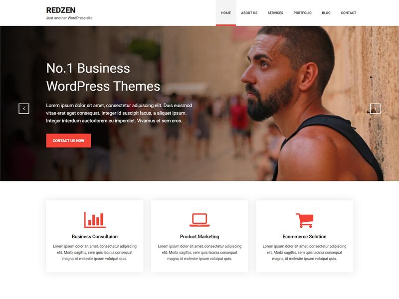 Redzen - Free Business WordPress Theme - Freebie Supply