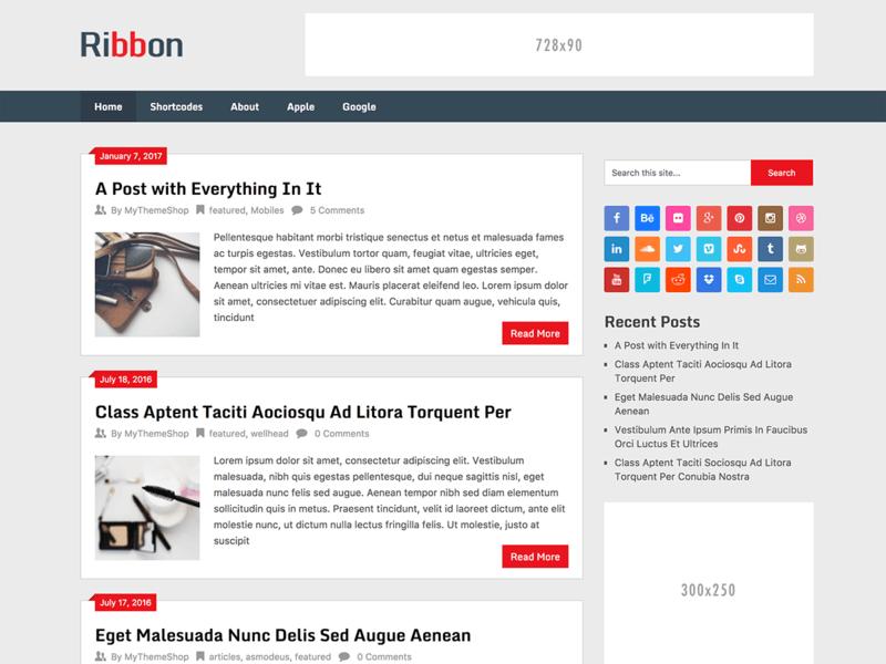 Ribbon Lite - Free Ecommerce WordPress Theme - Freebie Supply