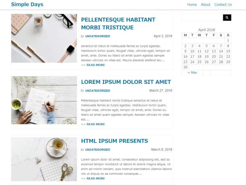 Simple Days Free Blog Wordpress Theme Freebie Supply