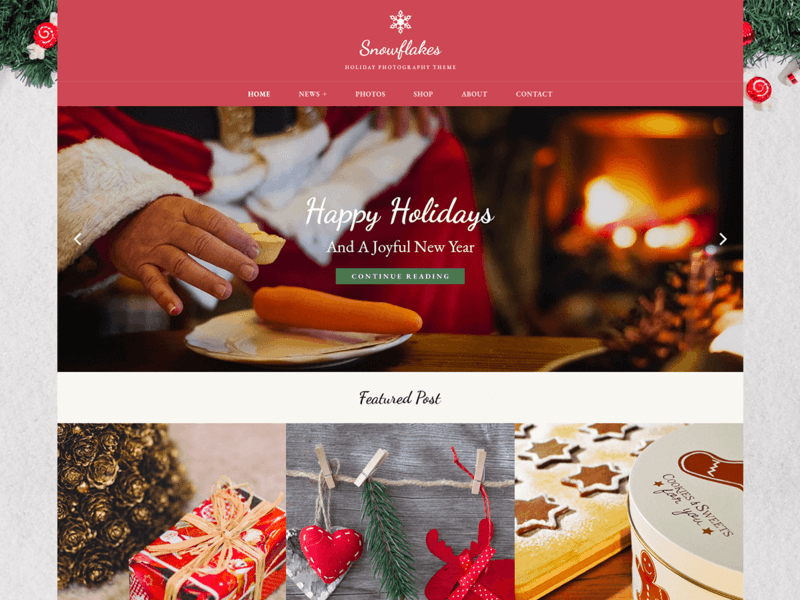Snowflakes - Free Photography WordPress Theme - Freebie Supply