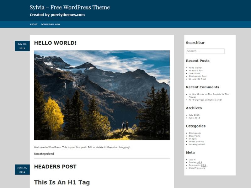 Sylvia - Free Ecommerce WordPress Theme - Freebie Supply