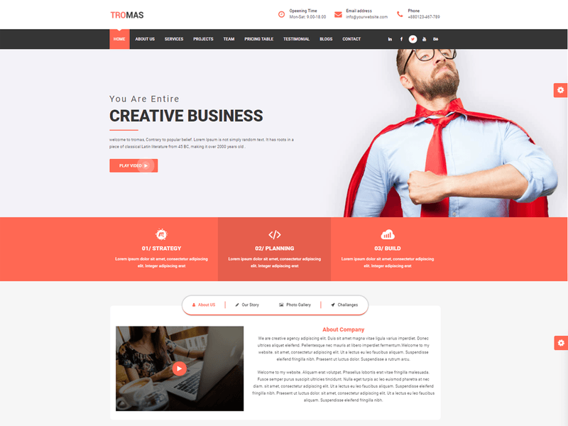 Tromas free business wordpress theme freebie supply tromas is a multipurpose business wordpress theme it s fully responsive with bootstrap framework easy to customization modern and creative template friedricerecipe Gallery