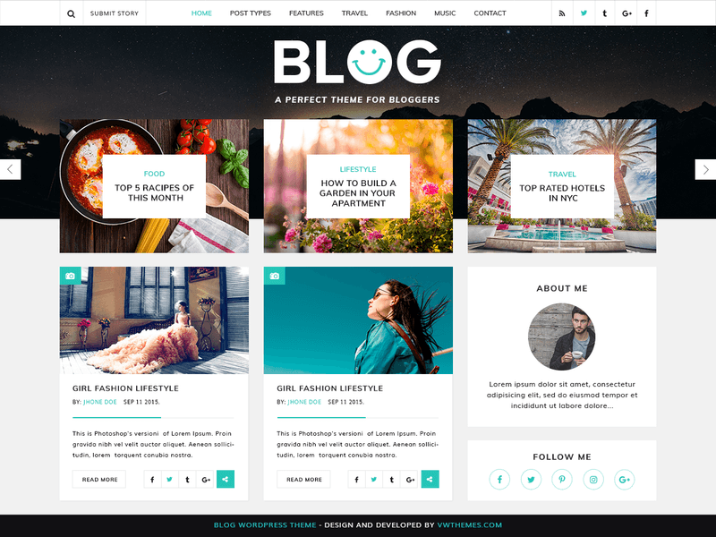 VW Blog Magazine - Free Magazine WordPress Theme - Freebie Supply