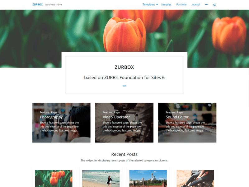 Zurbox Lite - Free Business WordPress Theme - Freebie Supply