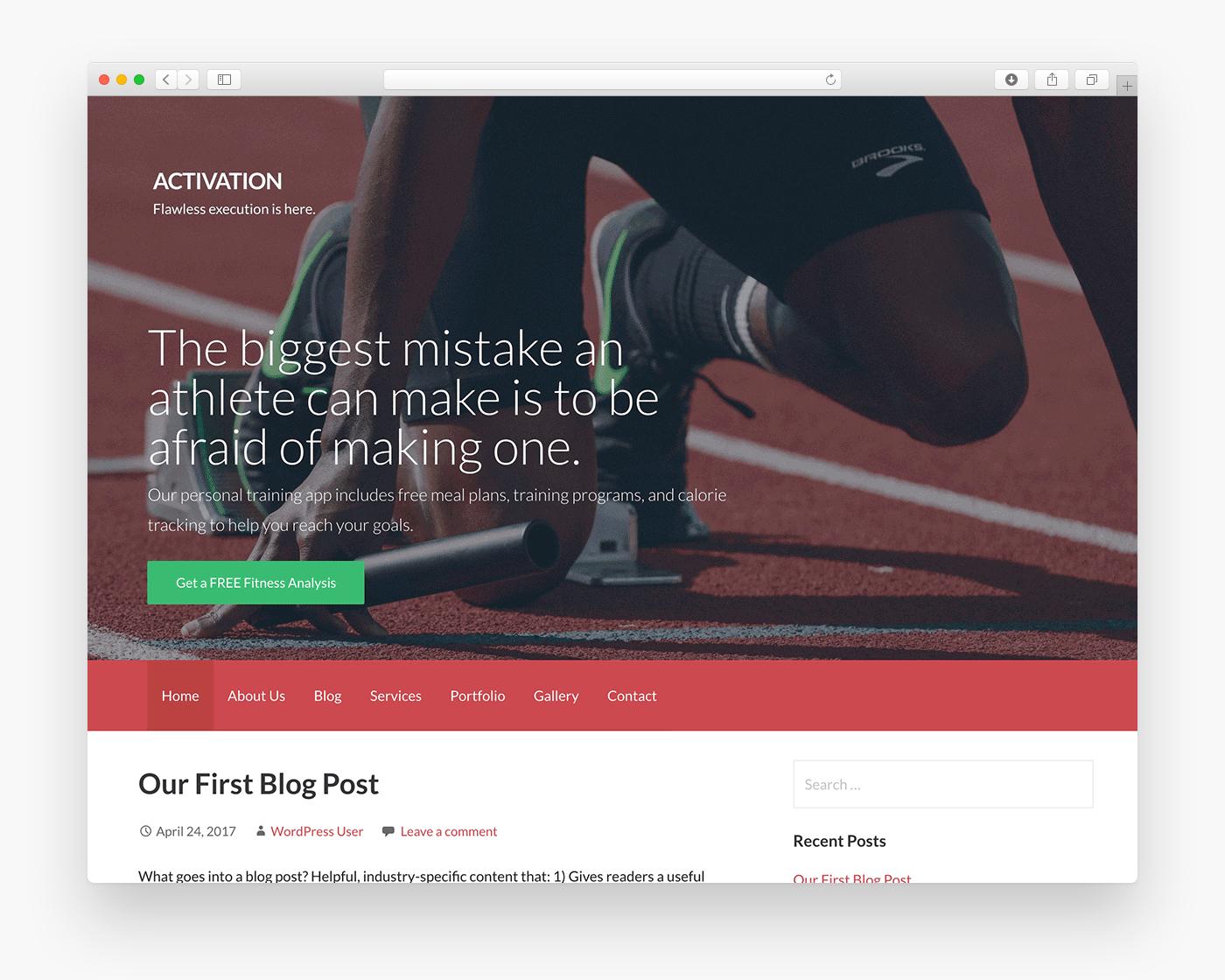 Activation - Free WordPress Theme - Freebie Supply