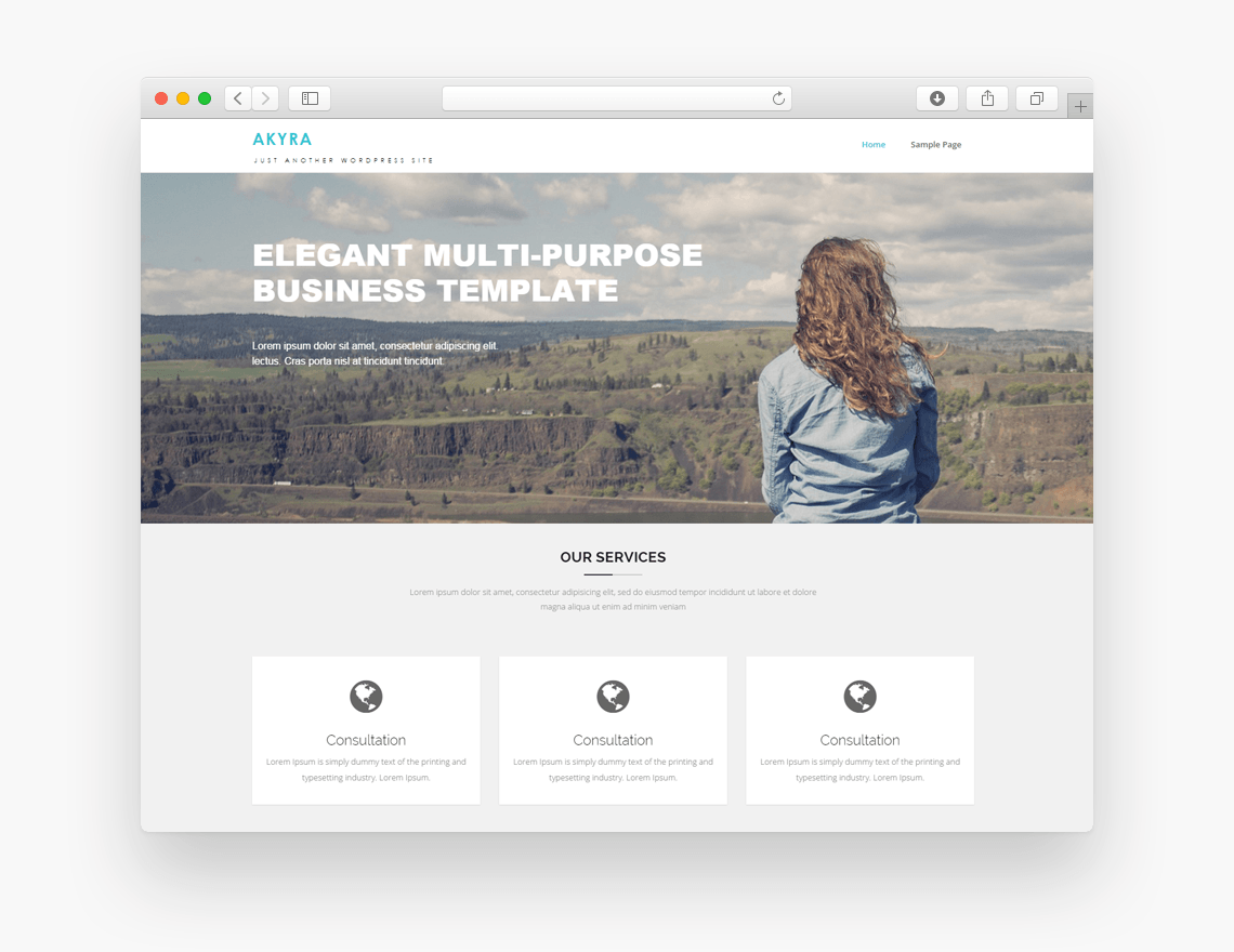Akyra free business wordpress theme freebie supply akyra is a simple and clean theme with a great elegant design and easy and powerfull customization options akyra theme is single click intall feature flashek Gallery