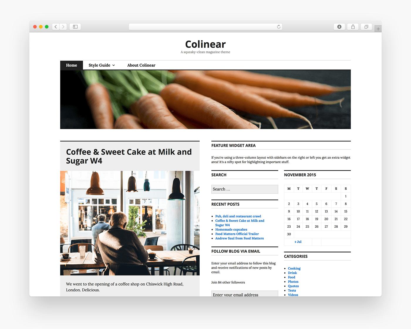 Colinear Free Magazine Wordpress Theme Freebie Supply