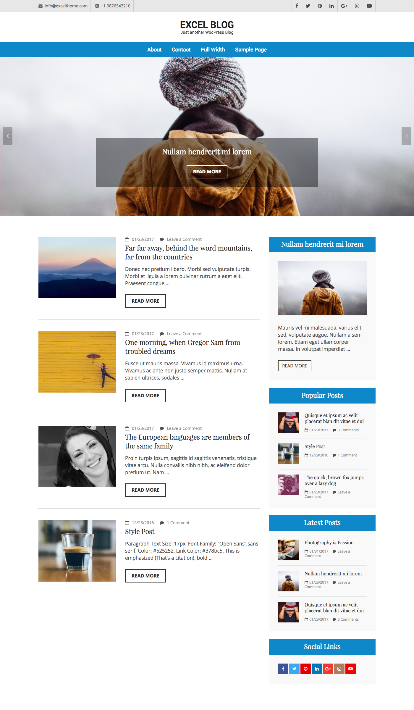 Excel Blog Free Portfolio Wordpress Theme Freebie Supply