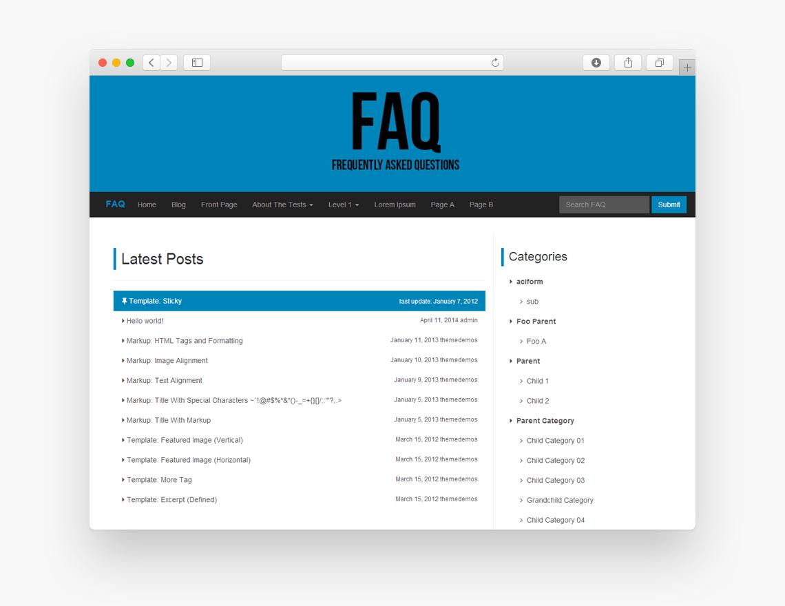 FAQ - Free Bootstrap WordPress Theme - Freebie Supply
