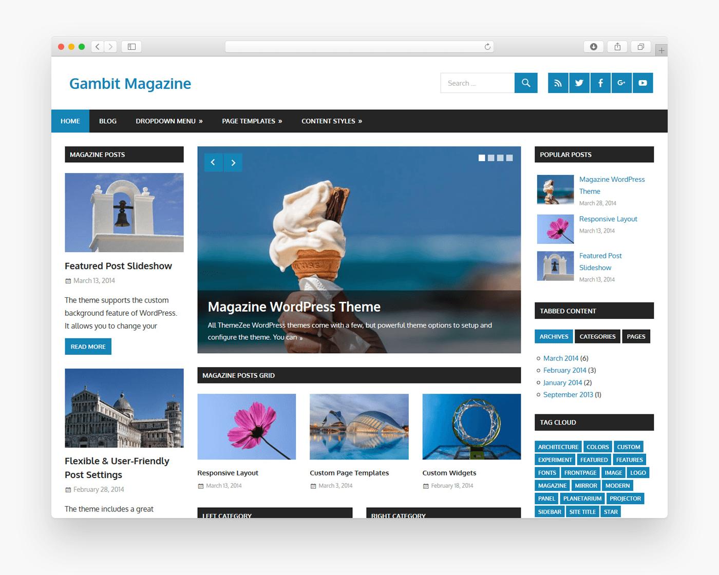gambit wordpress theme