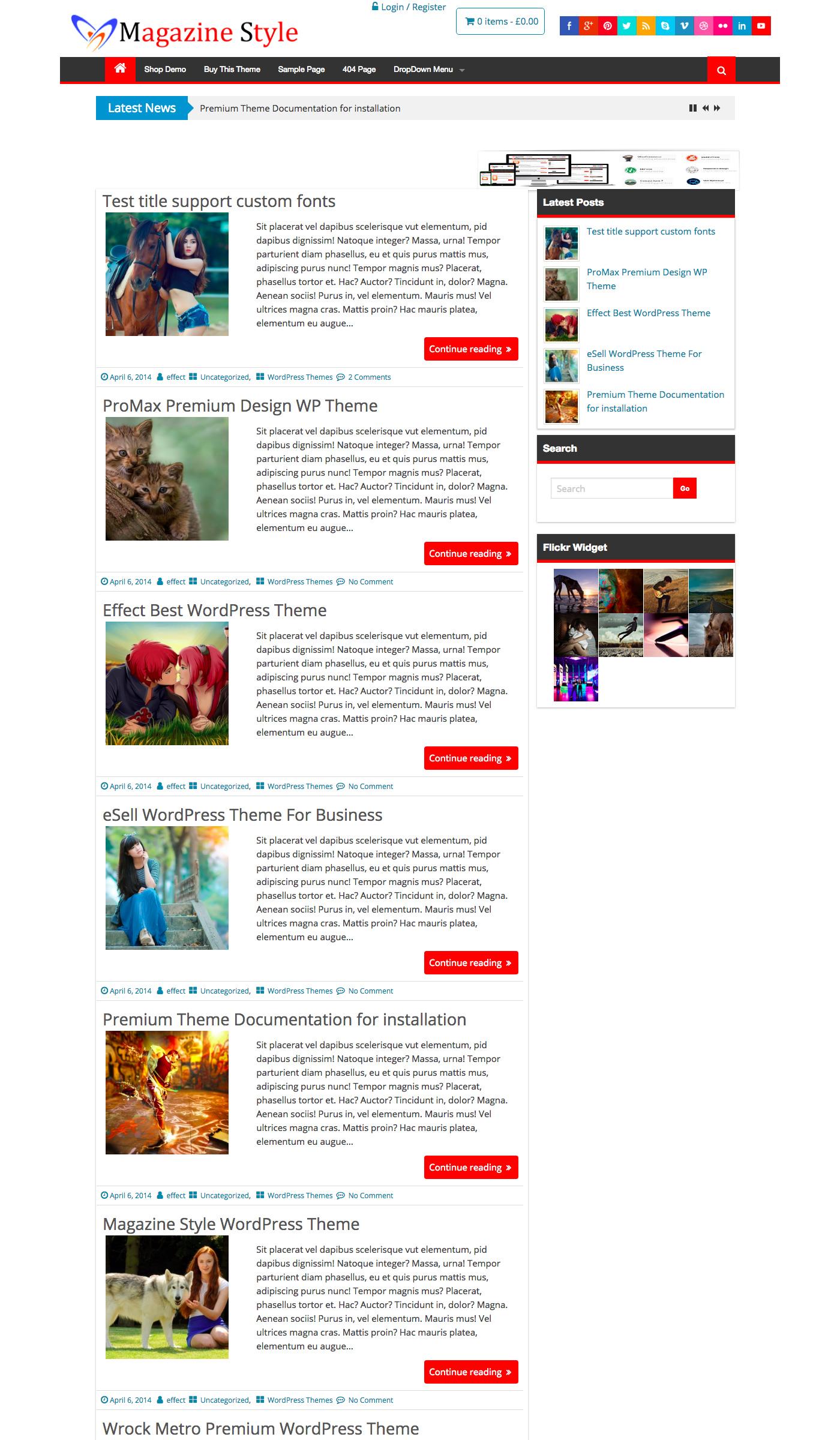 Magazine Style - Free Ecommerce WordPress Theme - Freebie Supply
