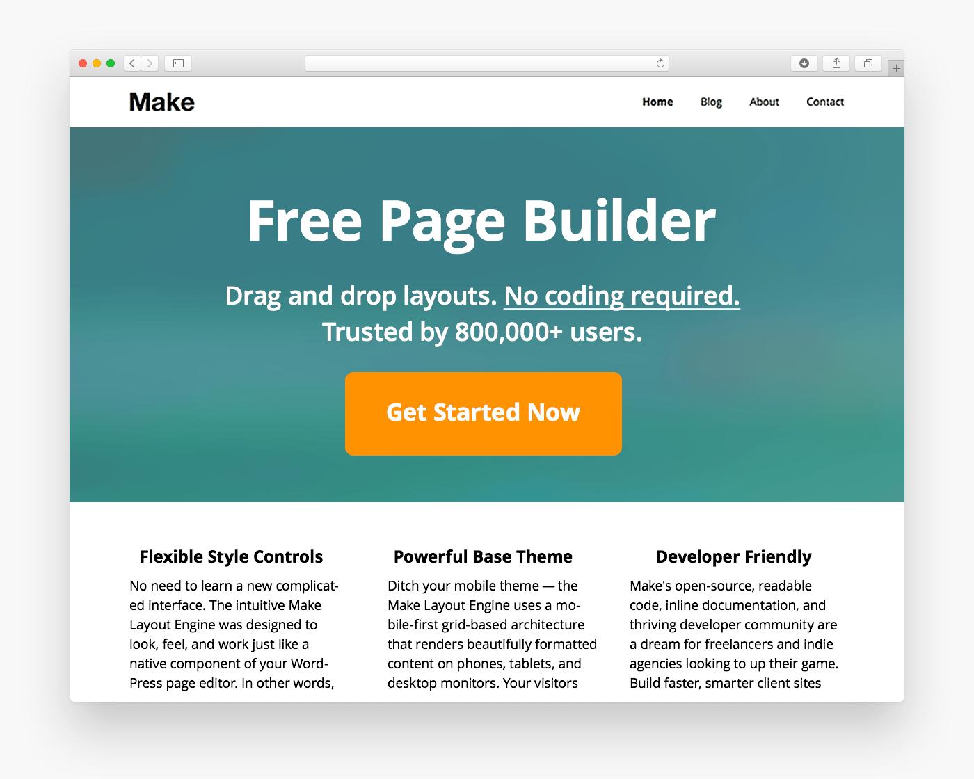 Make - Free Ecommerce WordPress Theme - Freebie Supply