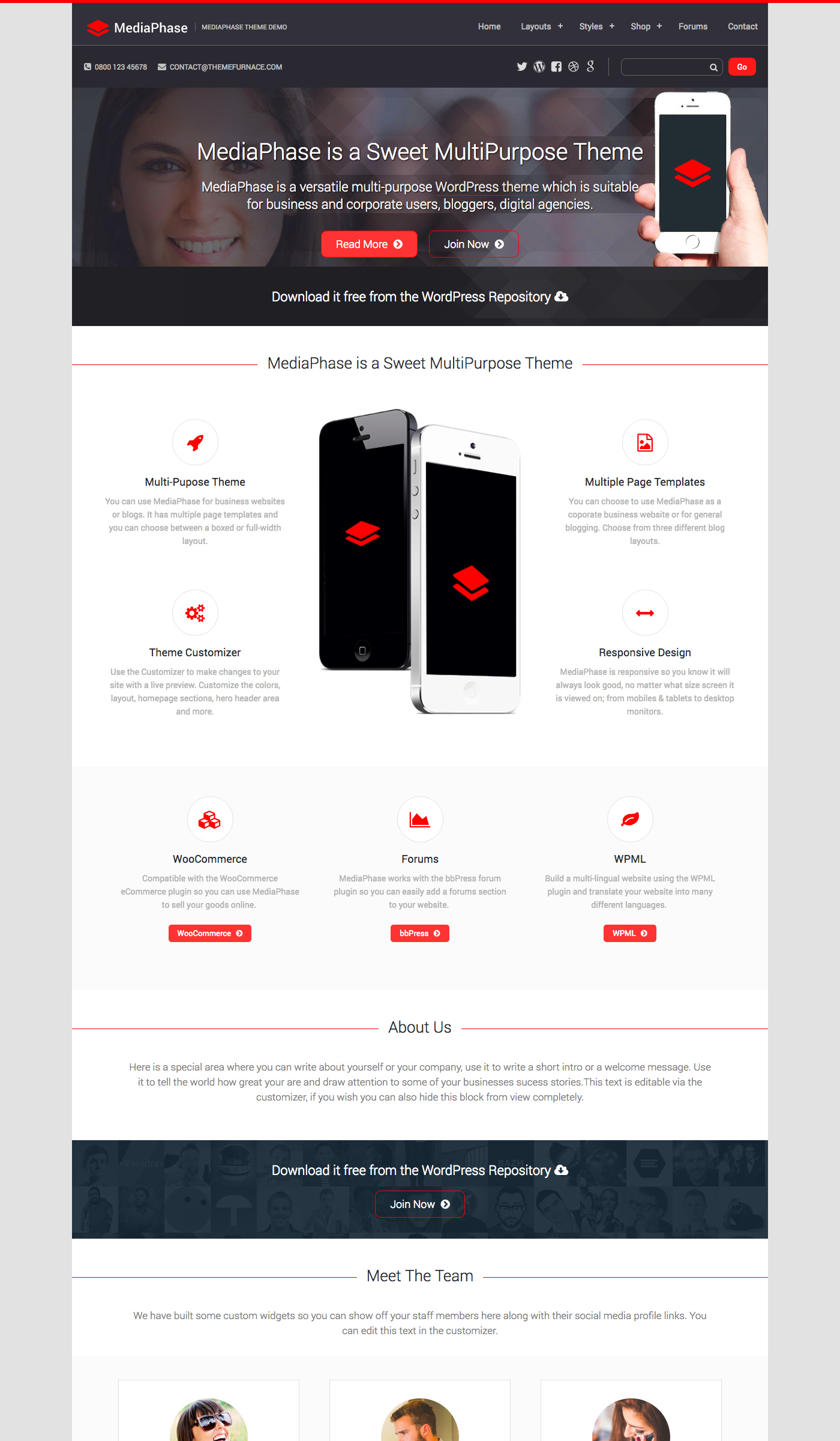 Mediaphase Lite - Free Ecommerce WordPress Theme - Freebie Supply