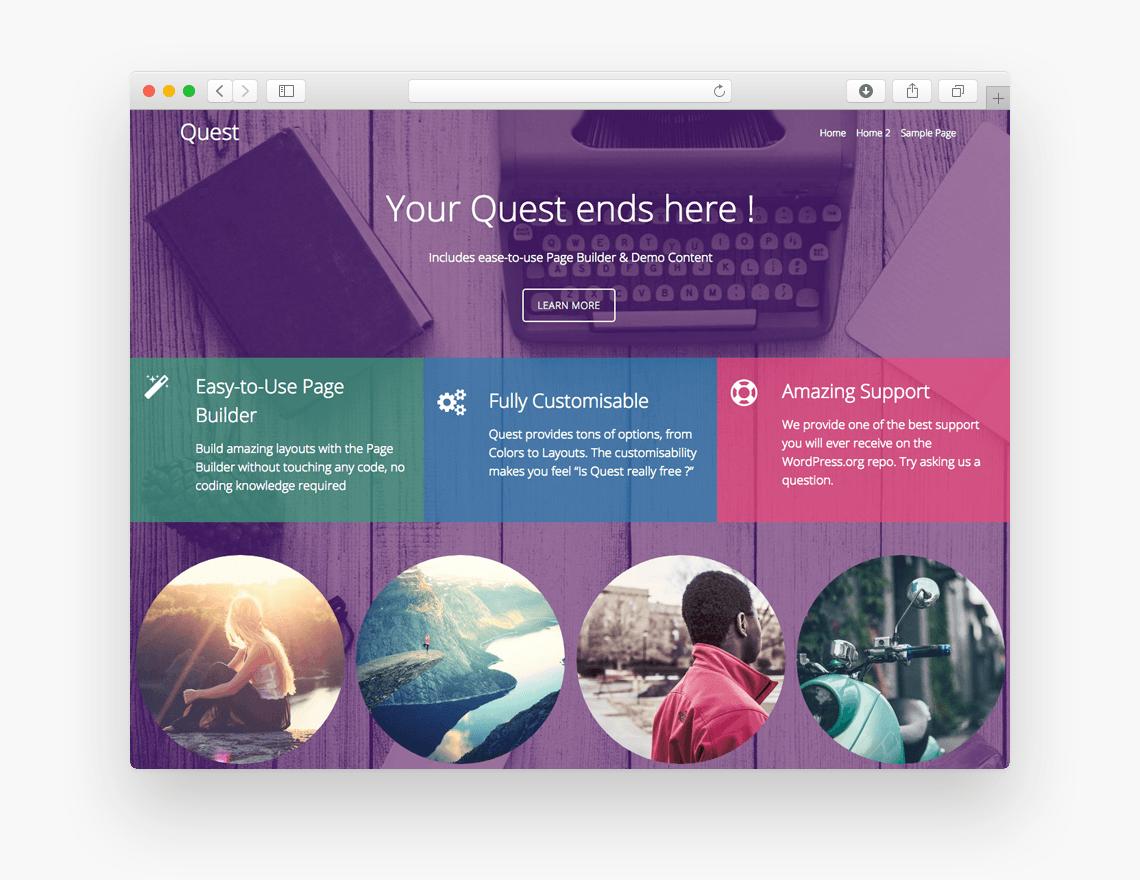 Quest - Free Ecommerce WordPress Theme - Freebie Supply