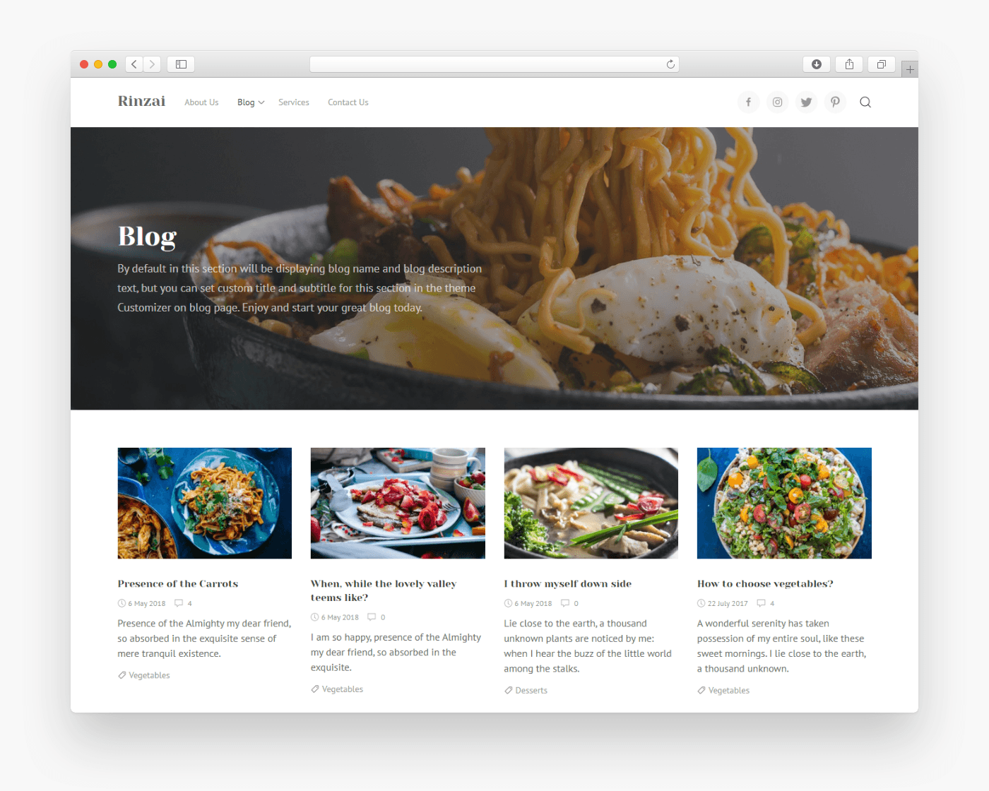 Rinzai free business wordpress theme freebie supply rinzai is a modern and minimalist theme for any type of blog not just food blog portfolio and small company website theme can be customized with cheaphphosting Images