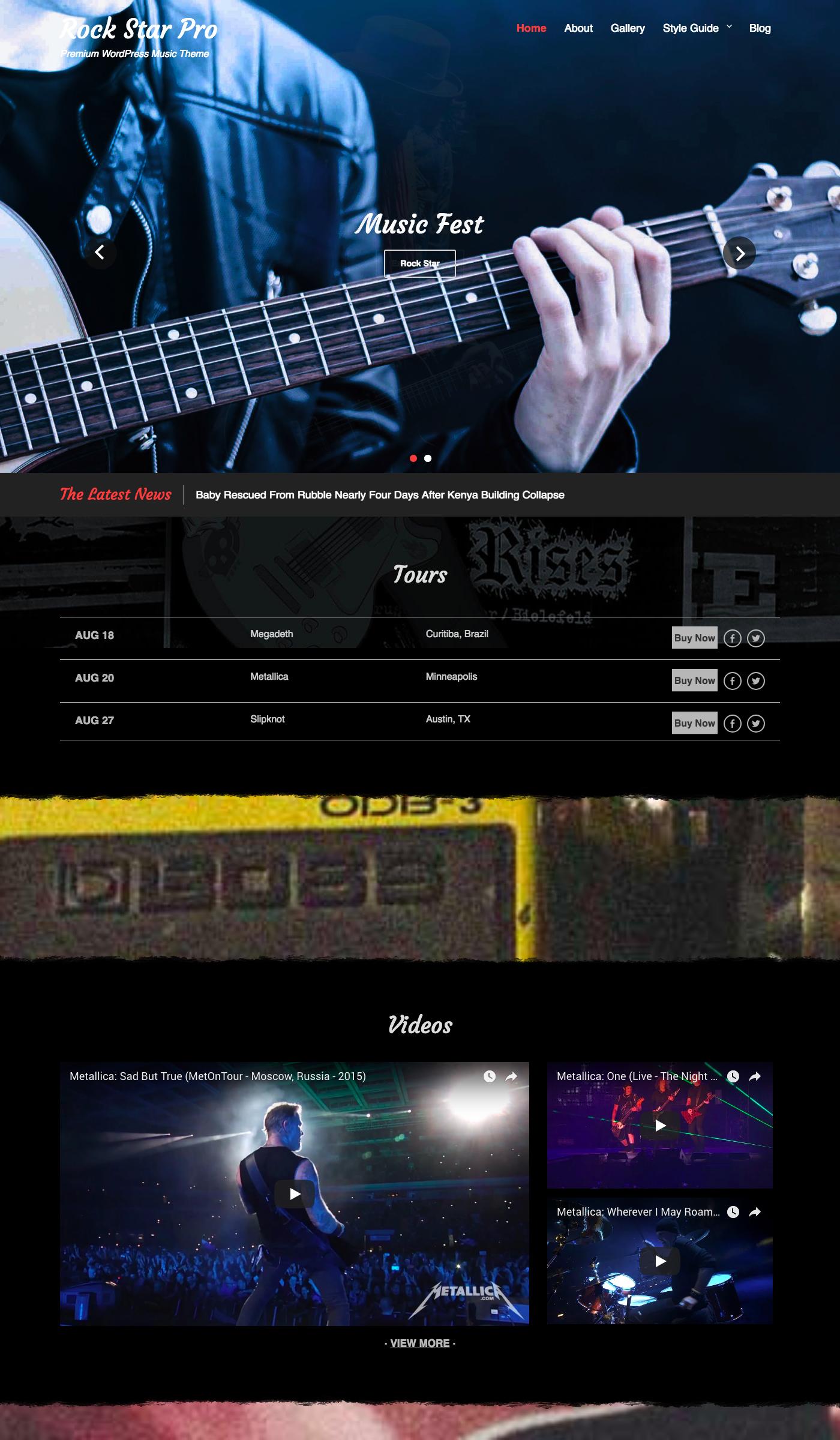 Rock Star Free Magazine Wordpress Theme Freebie Supply