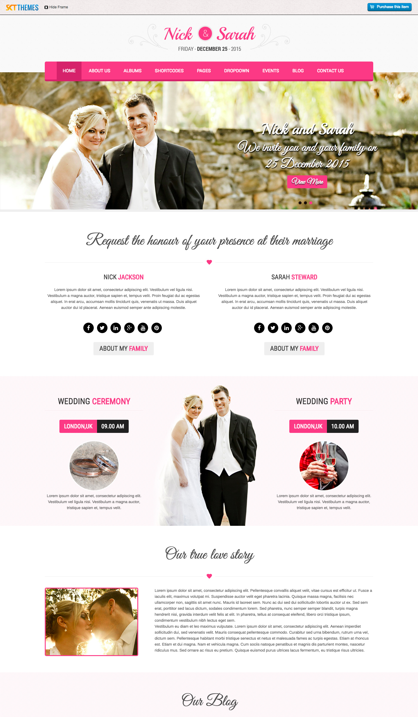 Contemporary Free Wordpress Wedding Theme Pattern - Wedding Idea ...