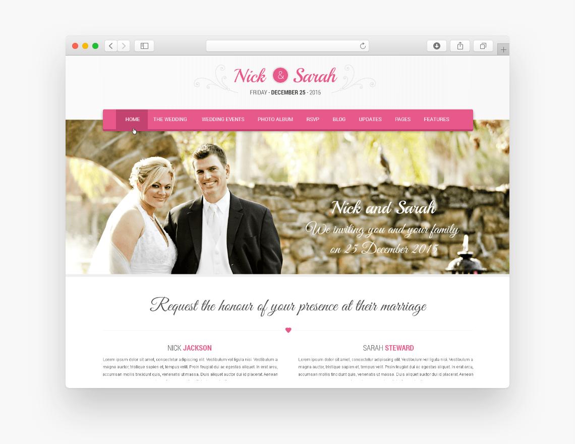 SKT Wedding Lite - Free Ecommerce WordPress Theme - Freebie Supply