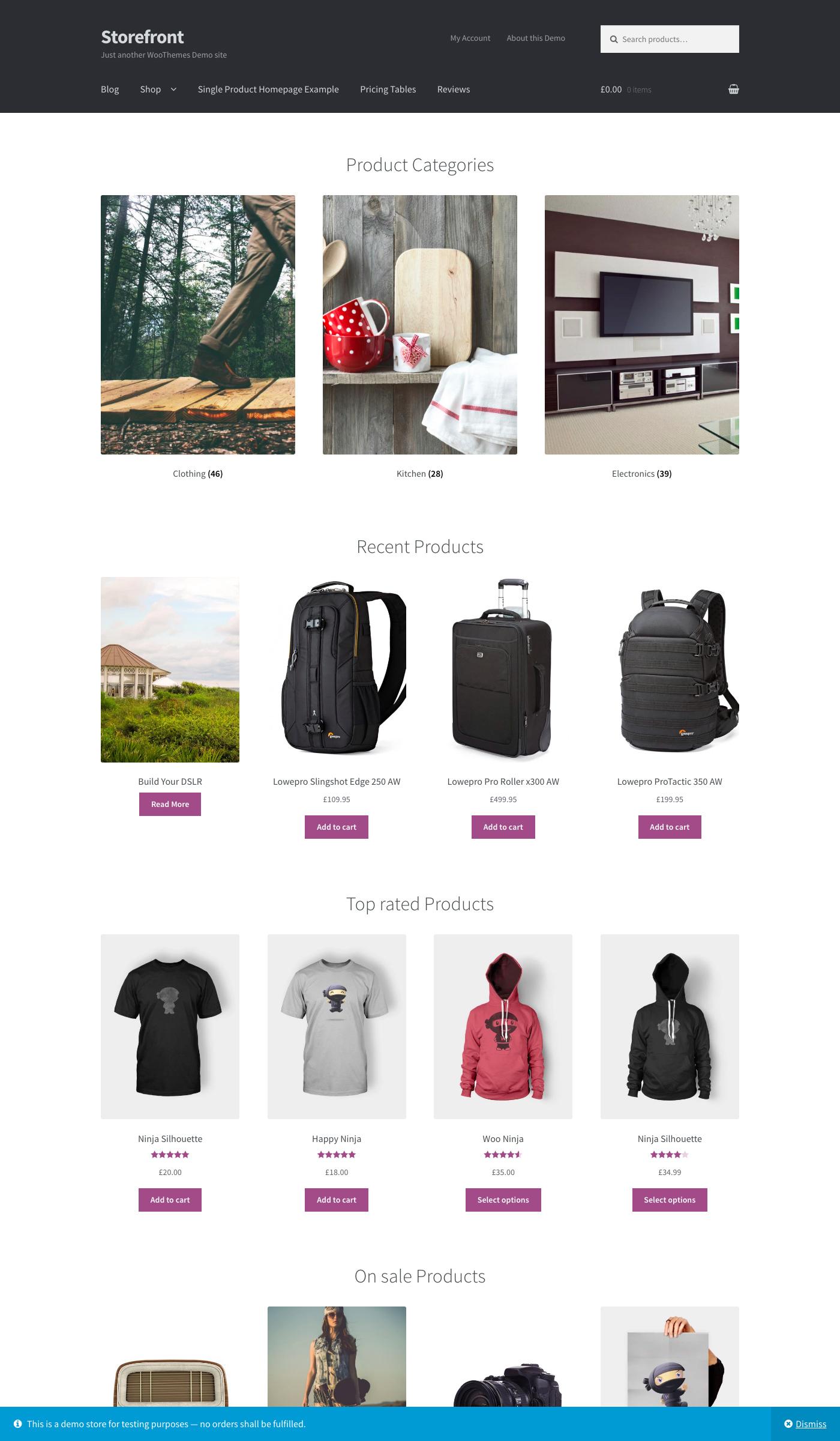 Storefront Free Ecommerce Wordpress Theme Freebie Supply